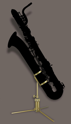 Jiffy Baritone Saxophoen Stand - Click for Larger Image